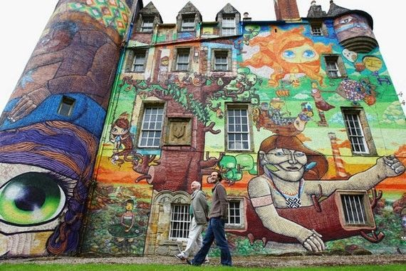 The Earl Of Glasgow Seeks Approval For Graffiti At Kelburn Castle