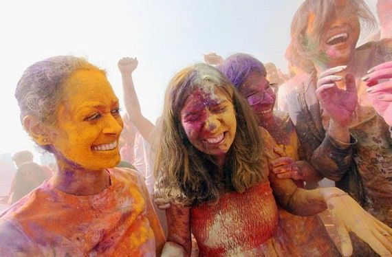 Indian Holi Festival Celebrated On Boat Cruise Around Manhattan