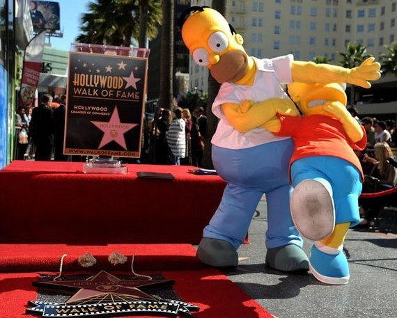 Matt Groening Honored On The  Hollywood Walk Of Fame