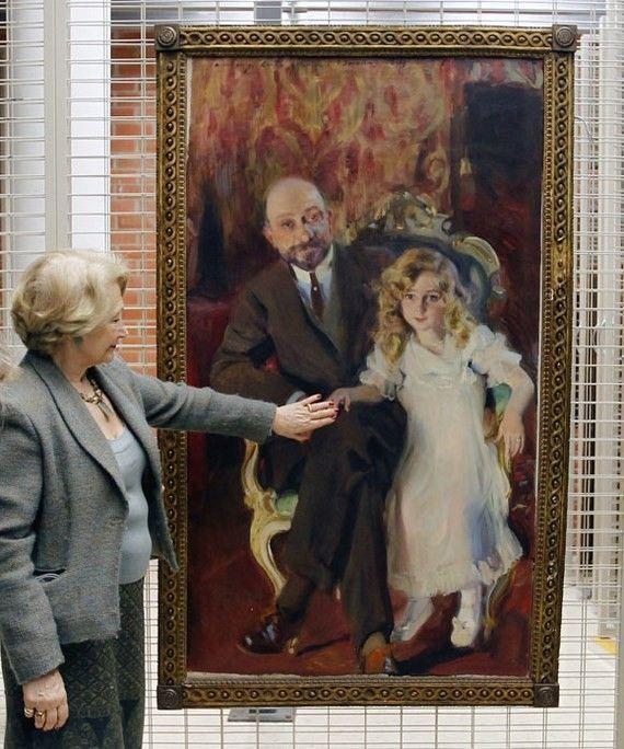 """EL """"RETRATO DE CARLOS URCOLA IBARRA CON SU HIJA"""" LLEGA AL MUSEO SAN PIO V DE VALENCIA"""